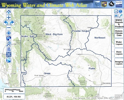 Image of Wyoming Water & Climate Atlas