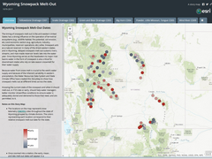 Storymap of snowpack meltout dates